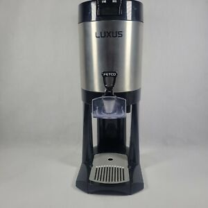 Fetco L3D-10 Luxus 1 Gallon Thermal Coffee & Tea Dispenser on a Stand Pre-owned