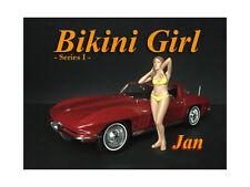 JAN BIKINI CALENDAR GIRL FIGURE FOR 1/24 SCALE MODELS BY AMERICAN DIORAMA 38265