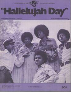 "MICHAEL JACKSON  Rare 1973 Oz Only OOP Original Pop Sheet Music ""Hallelujah Day"