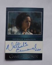 2014 Nathalie Emmanuel Game of Thrones Missandei Autographed Card AU Auto Sign