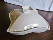 White Covered Chaffing Dish, Offset Square, Nice Condition - Godinger Silver Co.