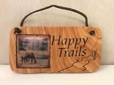 Happy Trails Horse Ranch Stone Expressions Impressions Thirstystone Wall Decor
