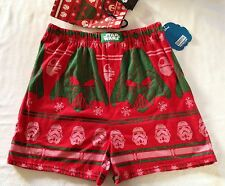 Star Wars Darth Vader Ugly Christmas Men's Red Boxers Size Small Underwear +Bag