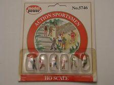 Model Power Action Sportsmen Figures MP5746 HO Scale 1 87