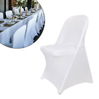 Stretch Spandex White Folding Chair Covers Banquet Wedding Birthday Decotation