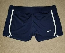 Womens NIKE Fit Dry Spadex Stretch Vollyball Athletic Fitted Shorts Large 12-14