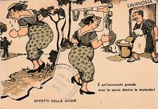 "*Humor Foreign Postcard-""3 Ladies Washing Clothes"" (U2-504)"