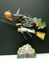 "Jim Shore RARE Witch Halloween ""fly with me for a spell"""