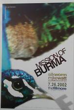 MISSION OF BURMA FILLMORE POSTER Silkworm Mike Watt Original BILL GRAHAM F531