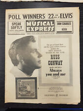 New Musical Express: Russ Conway, Elvis: November 23, 1962