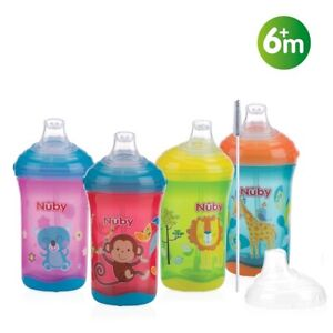Nuby First Baby Drinking Cup Flip It Beaker Active Sipeez No Spills Toddler 6M+