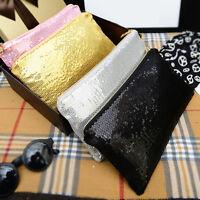 Women Clutch Dazzling Sequins Glitter Sparkling Handbag Evening Bag Bling Purse