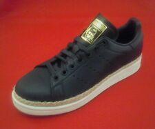ADIDAS Stan Smith Shoes New Bold W Espadrilles Black Sneakers DA9536 Women's