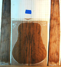 flaming / curly black walnut tonewood guitar luthier set back and sides