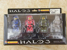 New Halo 3  Kubrick   Master Chief Collectors  4 figure set  Clear  Gentle Giant