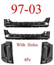 97 03 Ford 4Pc Extended Rocker & Cab Corner Kit, With Holes, Regular Cab, F150