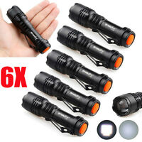 6X LGini New Q5 7W 8000Lm Adjustable LED Flashlight Torch Lamp LOT Zoom Light LG
