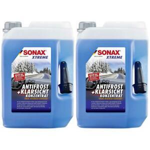 2x SONAX XTREME AntiFrost KlarSicht Konzentrat Nano 5L Frostschutz Waschanlage