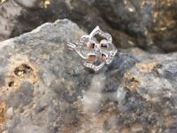 NEW Welsh Clogau Silver & Rose Gold Tree of Life Flower Ring £70 off! Size T