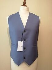 Paul Smith Wool Mohair Gents Waistcoat Grey uk 46 eu 56 Made in Italy RRP £245