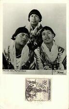 colombia, Indios del Putumayo, Native Indians (1956) RPPC Stamps