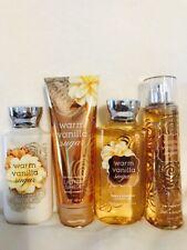 Bath Body Works Warm Vanilla Sugar Fragrance Mist+ Body Lotion Cream Shower Gel