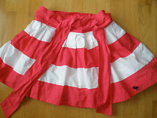 Abercrombie & Fitch S Womens ( or Girls ) Fuchsia Pink White Stripe Short Skirt