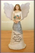 DAUGHTER ANGEL WITH FLOWERS 6.5 INCHES BY PAVILION ELEMENTS FREE U.S. SHIPPING