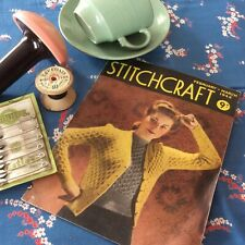 1940s STITCHCRAFT Magazine Feb/March 1944 ~Knitting Patterns, Home Front Sewing
