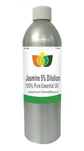 Jasmine Essential Oil 5% Dilution Jasminum Grandiflorum 1 Litre - Aromatherapy