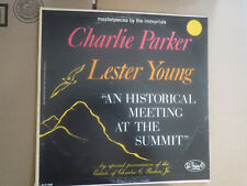 33RPM Charlie Parker Lester Young, Historical Meeting at Summit, Masterpieces E-