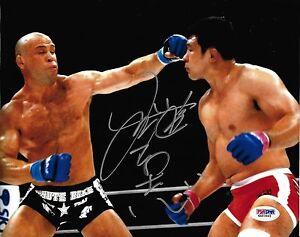 Kazushi Sakuraba Signed 8x10 Photo PSA/DNA COA Pride UFC Wanderlei Silva Picture