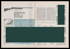 1964 Remington Model 11 Shotgun Exploded View Parts List 3-page Assembly Article