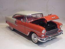 DANBURY MINT 1955 CHEVROLET BEL-AIR SPORT COUPE - 1:16 SCALE MODEL- ORIGINAL BOX