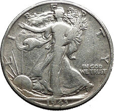 1943 WALKING LIBERTY Half Dollar Bald Eagle United States Silver Coin i44670