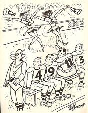 Football Cheerleader Gag - 1962 Humorama ~ Original Art - Guy Montone