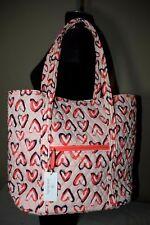 Vera Bradley Hearts Pink Vera Tote XL Shopper Shoulder Bag 15822-J45 New w/ Tag