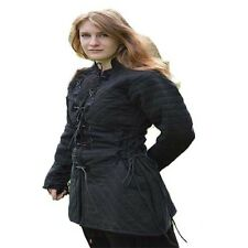 Black Thick padded Medieval Gambeson Jacket COSTUMES DRESS SCA