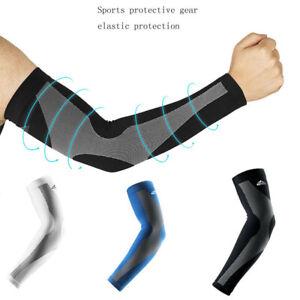 2PCS Sport Arm Sleeves UV Sun Protect Anti-slip Basketball Armband Tattoo Cover