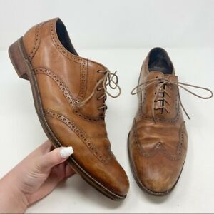 Cole Haan Men's Genuine Leather Brown Air Madison Wingtip Oxfords Size 13