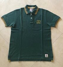 FRANKLIN AND MARSHALL MENS SHORT SLEEVE POLO - DARK GREEN YELLOW - LARGE -RRP£60
