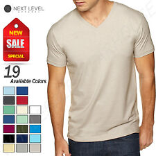 NEW Next Level Men's Premium Fit Sueded V-Neck Sizes S-XL T-Shirt R-6440