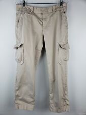 Gap Women's Crop Pants Tan Cargo Pockets Size 10