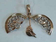 Original PENDANT Rose GOLD 14k 585 Russian Gold Bird