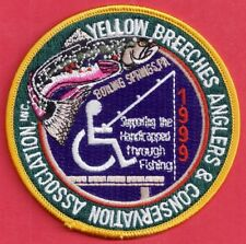 """Pa Pennsylvania Fish Game Commission NEW 4"""" 1999 Yellow Breeches Anglers Patch"""