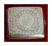 Sterling Silver Presentation Cigarette Case. Bury Athenaeum Operatic Soc. 1908.