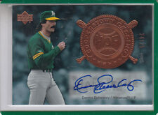 2005 UPPER DECK HALL OF FAME PLAQUES DENNIS ECKERSLEY #24/25 AUTOGRAPH AUTO