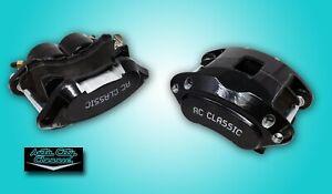 GM metric front disc brake calipers dual twin piston md154 pads black