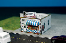 Sherlock Combs Barber shop & Quartet N Scale Building DIY Paper Cutout Kit