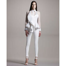 NWT Givenchy sleeveless Peplum White Top Runway Spring/Summer 2012 size 38 Small